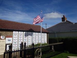 American flag flying in honor of David's crossing.