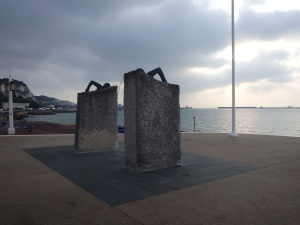Swimmer Statues at Dover Harbour (spelled with a 'u' because that's how they roll in the UK.)
